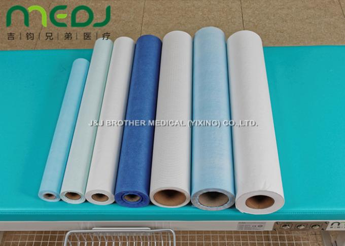 PE Laminated Disposable Bed Sheet Roll , Breathable Exam Table Paper Sheets