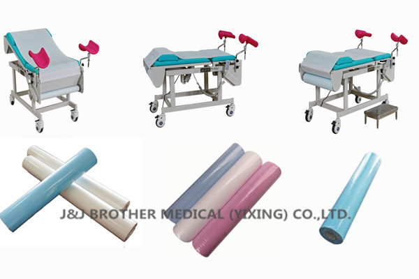 Steel Frame Gynecological Examination Bed Remote Control Change Sheet