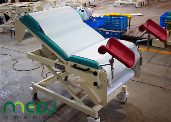 Foldable gynecological exam table with stirrups clinic gynecology table