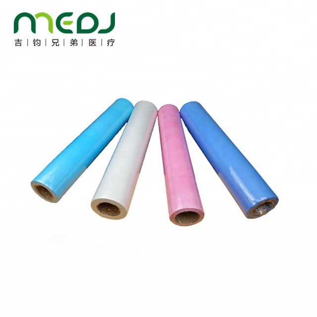 Environmental Medical Paper Roll , Blue Customized Paper Bed Sheet Roll