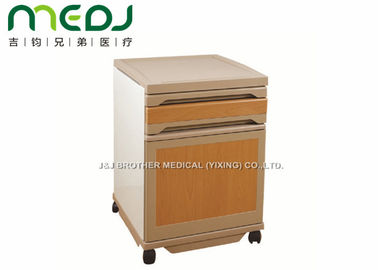 China Commercial Medical Bedside Cabinet 2 Drawers ABS Board Steel Frame supplier