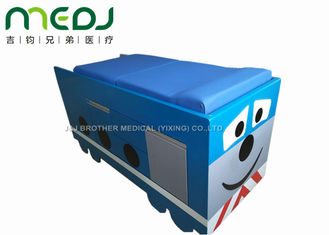 China Manual Control Medical Exam Bed Two Sections Pediatric Table With Soft Mattress supplier