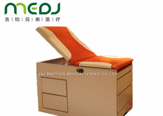 China Orange Small Exam Table MJSD03-08 Two Drawers For Children Treatment supplier