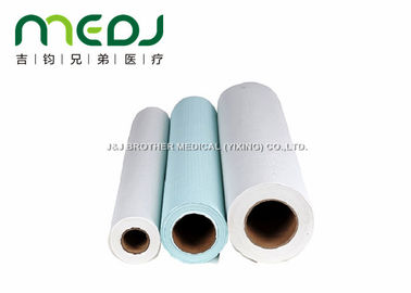 China Hygienic Medical Disposable Bed Sheets Roll MJJC02-01 With Crepe Paper supplier