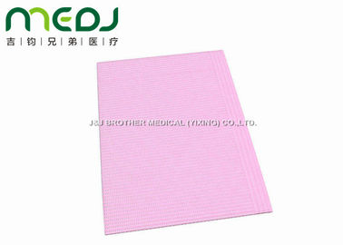 "China Pink 3 Ply Dental Patient Bibs Protective Nursing Apron Waterproof 13*18"" supplier"
