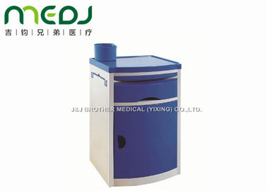 China Blue ABS Bedside Cabinet Locker Patient Room With Water Bottle Holder supplier