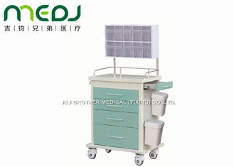 China 102cm Height Medical Trolley Cart Anesthesia MJTC02-02 With Diagonal Brakes supplier