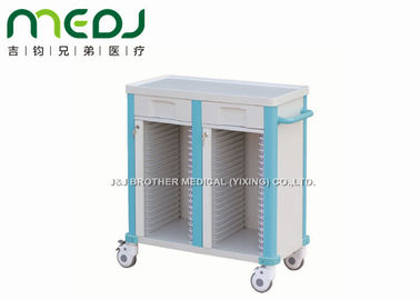 China Ward Room Hospital Medicine Trolley , MJTC02-05 ABS Patient Medical Records Trolley supplier