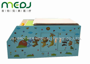 China Wood Pediatric Hospital Exam Table With Big Double Door Storage Canbinet supplier