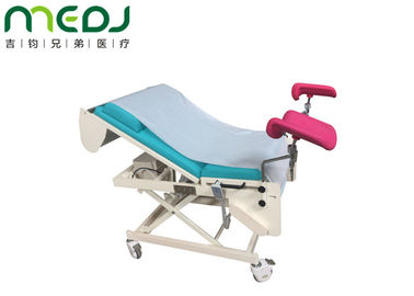 China Foldable gynecological exam table with stirrups clinic gynecology table supplier