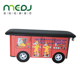 China Cute Cartoon Wooden Train Pediatric Exam Table Designed For Children supplier