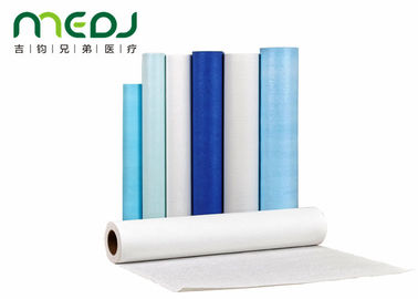Smooth Medical Bed Paper Rolls Dustproof Waterproof 60cmX100m For Hospital