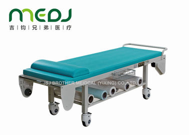 China Hospital Surgery Medical Examination Table Steel Frame With Storage Net factory