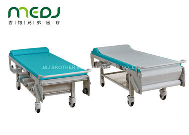 China Surgical Ultrasound Medical Treatment Bed White / Blue Color Powder Coating Surface factory
