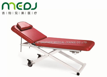China Foldable Red Electric Exam Table MJSD07-03 Handset / Foot Control With Pillow factory