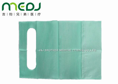 Soft Custom Printed Disposable Bibs 2 Ply Paper And 1 Ply PE Film Material