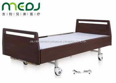 Luxurious Hospital Sick Bed Double Cranks Wood Head Board MJSD06-05