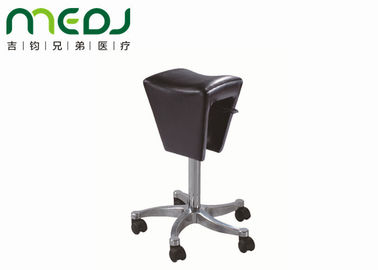 Black Dental Saddle Chair Clinic Stool Aluminum Frame 8cm Padding MJYZ01-10