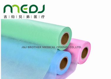 Anti Infection Disposable Bed Sheet Roll Easy Tearing Nonwoven Waterproof For Clinic