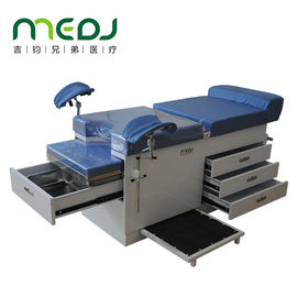 China Multifunctional Gynecological Worktable Stainless Steel Medical Desk With Storage Cabinet factory